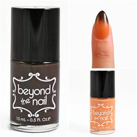 Deep Brown to Orange Halloween Thermal Nail Polish