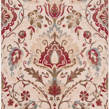 Surya Riley Floral and Paisley Red RLY-5017 Area Rug