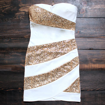 white snow party dress