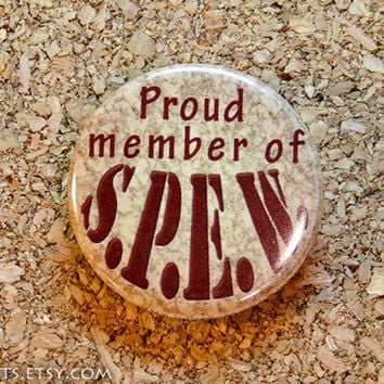 Harry Potter Proud Member of SPEW Pinback Button or by mikarts