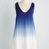 Mid-length Sleeveless Shift All In Favor, Say Dye! Dress in Navy