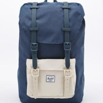 Herschel Supply co. Little America Backpack in Navy and Cream - Urban Outfitters