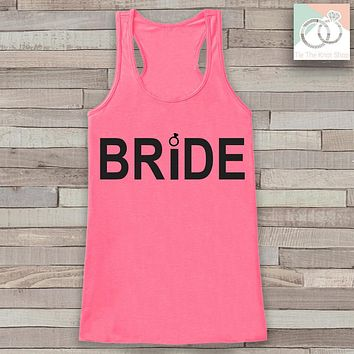 Bride Tank - Bride To Be Tank Top - Wedding Shirt - Simple Bridal Top - Pink Tank Top - Bachelorette Party Top - Bridal Party Outfits