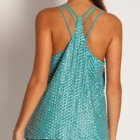 Parker Ginger top in aqua