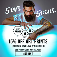 Monday, August 24: 15% off Art Prints - 24 Hours Only @ Society6 by soaring anchor designs | Society6