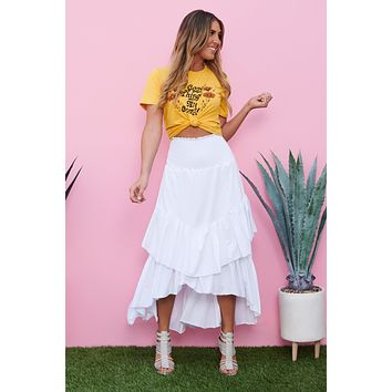 Thoughts Of You High Low Skirt (White)