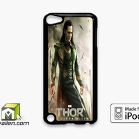 Loki Tom Hiddleston Collage iPod Touch 5th Case Cover by Avallen