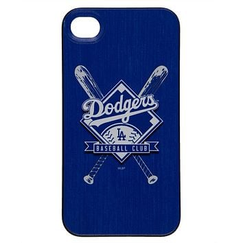 Los Angeles Dodgers - Crossed Bat Logo Stitch iPhone 4/4S Thinshield Snap-On Case