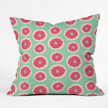 Allyson Johnson Sweet as a donut Throw Pillow