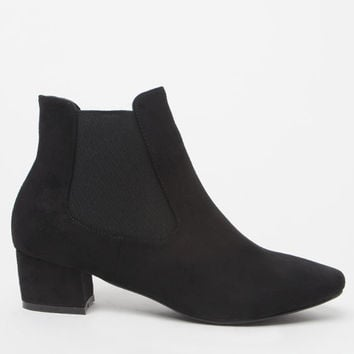 NYLA Shoes Square Toe Faux Suede Ankle Boots at PacSun.com