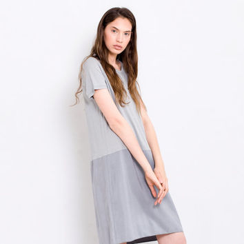 Light gray Cocktail shift  dress light grey casual sundress