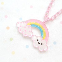 Happy Cloud Rainbow necklace