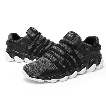 Men Running Shoes Sneakers/Tranier Breathable Mesh Sports Shoes Walking AthleticsTrainers Shoes 39-46 White Black Grey
