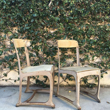 Vintage 1950s School Chair Vintage School Child Kids Wood and Metal Chair American Seating Company Envoy Set of School Chairs