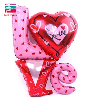 One-Pieces Love Letter balloons New Large size Love Letter Foil Balloons Wedding Party Decoration Valentines Wedding Supplies