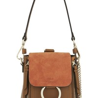 CHLOE - Faye mini leather & suede backpack | Selfridges.com