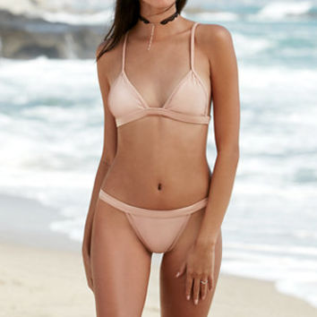 Lee + Lani Shine Fixed Triangle Bikini Top at PacSun.com