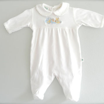 Vintage Baby Onesuit Jumper Gently Used Baby Clothes Newborn Size 3 Month Little Me Romper