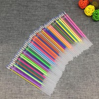 12 24 36 48Colors/Set Flash Ballpint Gel Pen Highlight Refill Color Full Shinning Refill Painting Pen Drawing Color Pen
