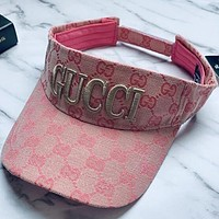 Gucci Women Men Sport Sunhat Embroidery Baseball Cap Hat
