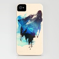 Alone as a wolf iPhone Case by Robert Farkas | Society6