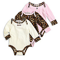 Juicy Couture - Infant's Three-Piece Bodysuit Set - Saks Fifth Avenue Mobile