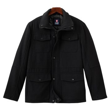 Chaps Melton Wool Blend Jacket