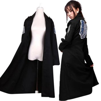 Cool Attack on Titan  Levi Rivaille Jacket Cloak Adult Halloween cosplay Costume AT_90_11
