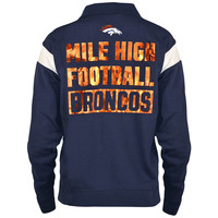 Women's Denver Broncos PINK by Victoria's Secret Navy Bling Half-Zip Pullover Jacket