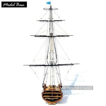 Wooden Ship Models Kits Train Hobby Model-Assembly Educational Toy Diy Model-Wood-Boats 3d Laser Cut Scale 1/75 USS Constitution