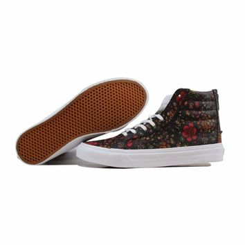 Vans SK8 Hi Slim Zip Floral Leather Multi Color VN000XH8JR1