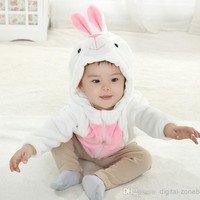 4 Pcs/lot + New 2014 Baby Toddler Clothing Outwear Rabbit Wool-Blends Stereoscopic Outdoor Hoodies Sweatshirts For Spring/Autumn/Winter