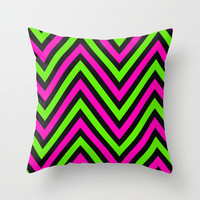 Neon Heights  Throw Pillow by Bree Madden
