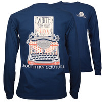 Southern Couture Write Your Story Comfort Colors Long Sleeve T-Shirt