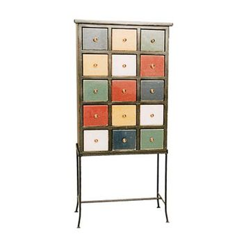 Westmoreland Woodworks 149 Fifteen Drawer Apothecary Chest on Iron