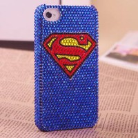 Superman Rhinestone iPhone Case by Pomelo on Zibbet