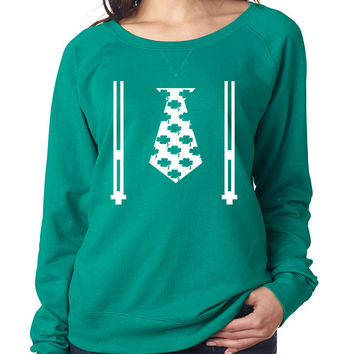 Irish shamrock tie women Pullover Shirt saint patricks day
