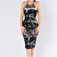 Rapture Dress - Gunmetal