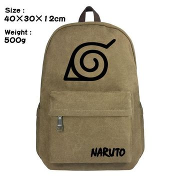 Anime Backpack School kawaii cute Naruto student Schoolbag Casual canvas Backpack Sharingan Uchiha Fashion Rucksack Travel bag Shoulder Bag Bookbag knapsack AT_60_4