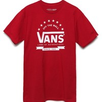 Vans Game Day T-Shirt - Mens Tee - Red/White/Blue