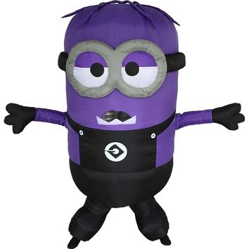Inflatable Minions Halloween little yellow man purple clothing adult moveable Jumpsuits disfraces adultos For Man and Women
