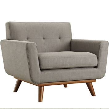 Engage Upholstered Armchair in Granite