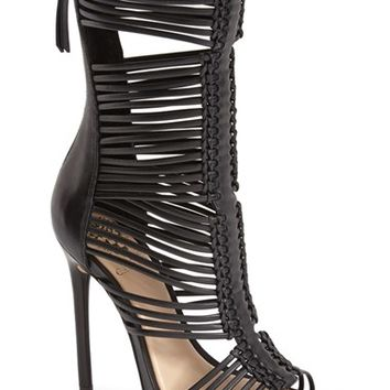 "Women's Vince Camuto 'Barbara' Strappy Caged Leather Sandal, 4 3/4"" heel"