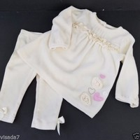 Little Wonders Newborn 2 Pc Set Baby Girl Clothes 6 to 9 Months