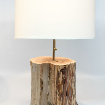 Log Lamp, Wood Stump Lamp, Log Cabin Decor, Rustic Table Lamp, Reclaimed Wood Lamp, Repurposed Lamps, Coastal Table Lamp, Wood Table Lamp
