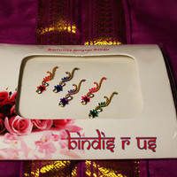 Long Curved Bindis Bollywood Style. Pretty Collection.
