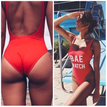 BAE WATCH One Piece Trendy Swimsuit