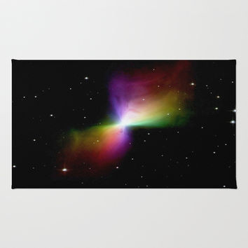 Rainbows in Space Area & Throw Rug by 2sweet4words Designs | Society6