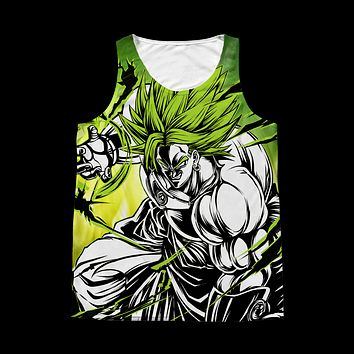 Super Saiyan - Broly - 1 Sided 3D tank top t shirt Tank - TL00983AT