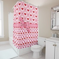 Fancy Hearts Shower Curtain